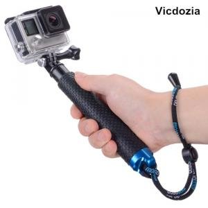 Vicdozia Portable Hand Grip Adjustable Extension Handheld Monopod Compatible with GoPro Hero(2018) Hero 7 6 5 4 AKASO SJCAM SJ4000 and More Action Cameras
